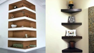 Photo of Modern and Beautiful Wall Mount Corner Shelves Designs Ideas