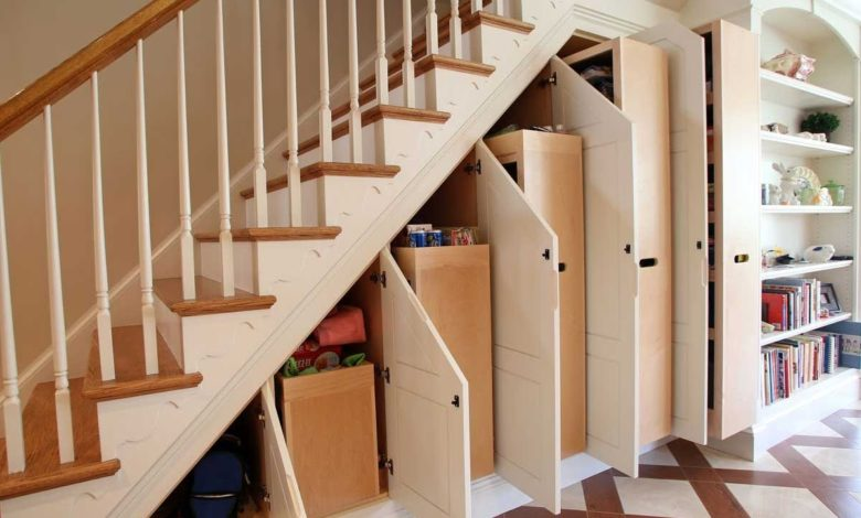Top 60 Modern Building Shelves Under The Staircase Designs