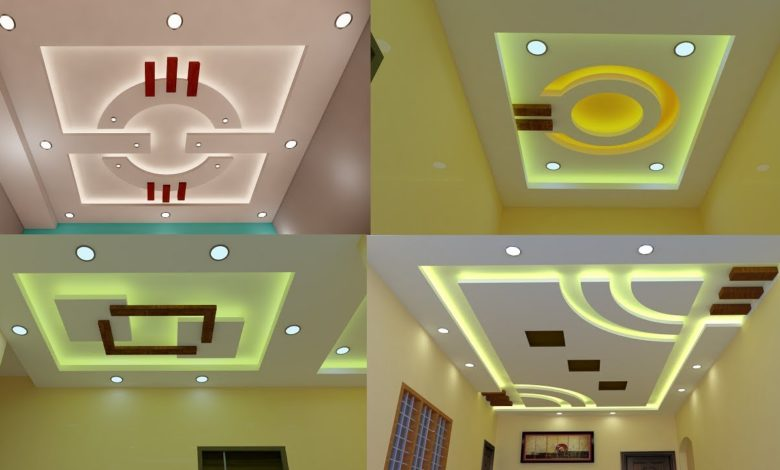 Modern and Beautiful False Gypsum Ceiling Designs For Living and Bedrooms