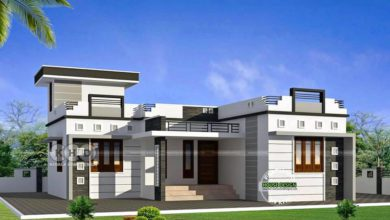Photo of 1000 Sq Ft 3BHK Modern Single Floor House and Plan