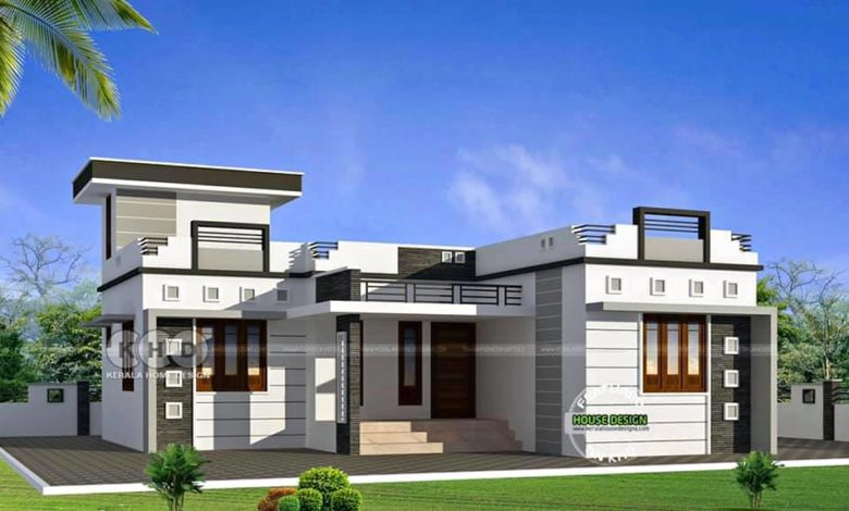 1000 Sq Ft 3BHK Modern Single Floor House and Plan