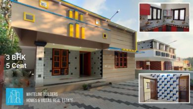 Photo of 1000 Sq Ft 3BHK Single Floor Low Budget House at 5 Cent Plot