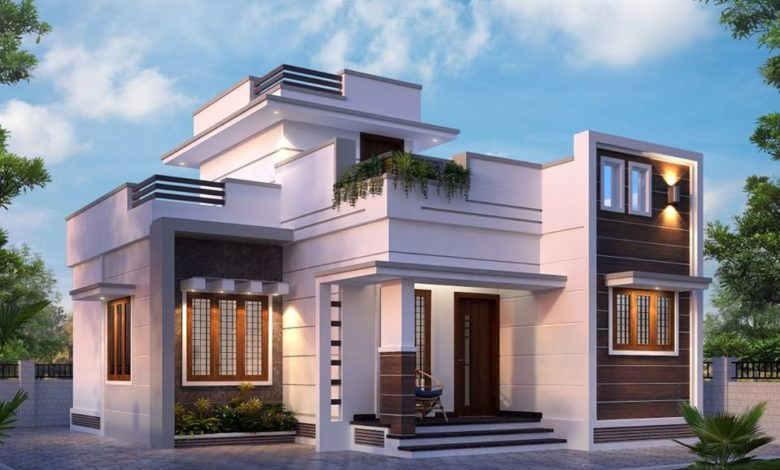 1001 Square Feet 3 Bedroom Beautiful Single floor House and Plan