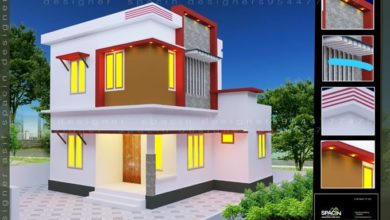 Photo of 1100 Square Feet 4 Bedroom Simple Style Two Storey House and Plan