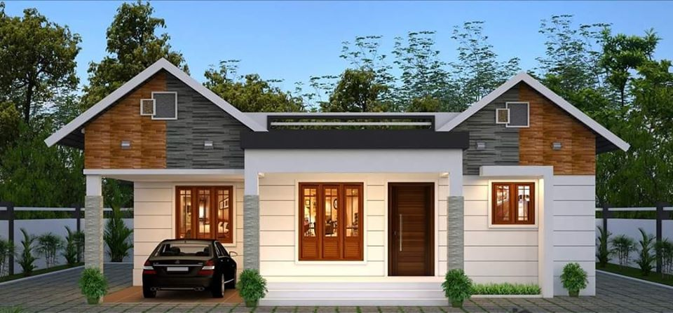 1150 Square Feet 3 Bedroom Traditional Style Single Floor House and Plan