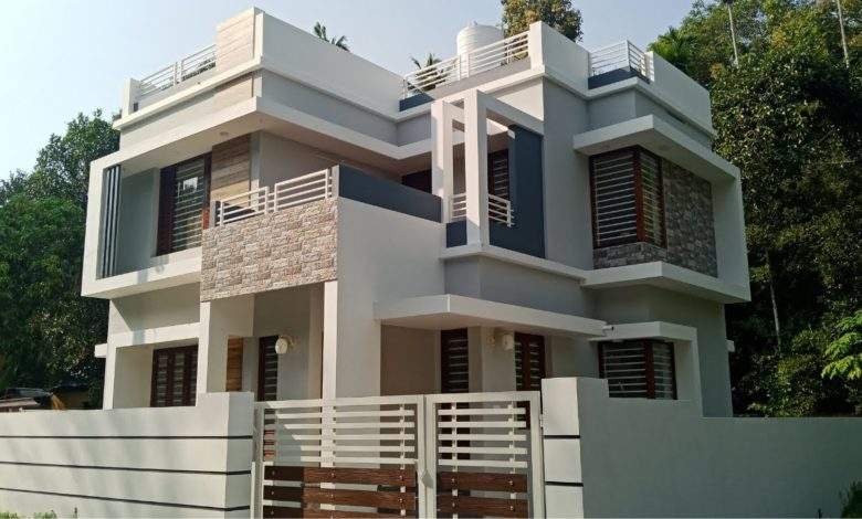 1168 Sq Ft 3BHK Modern Contemporary Style Two Floor House at 3 Cent Land