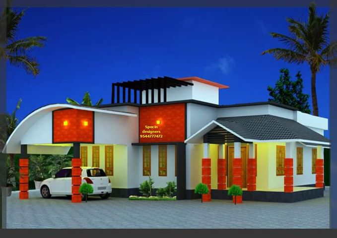 1200 Sq Ft 2 Bedroom Single Floor Contemporary Style House and Plan, 17 Lacks