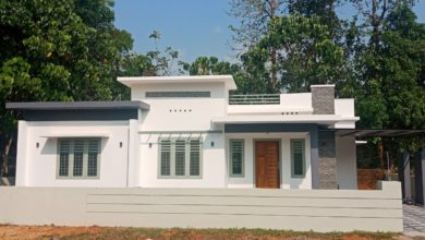 Photo of 1200 Square Feet 3BHK Single Floor Modern Flat Roof House at 6.5 Cent Land