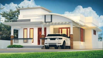 Photo of 1300 Square Feet 2 Bedroom Modern Single Floor House and Plan