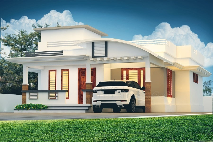 1300 Square Feet 2 Bedroom Modern Single Floor House and Plan