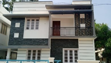 Photo of 1306 Sq Ft 3BHK Flat Roof Modern Two Floor House at 3 Cent Land