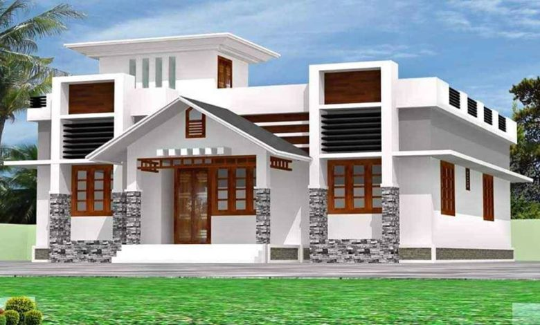 1450 Square Feet 3 Bedroom Beautiful Single Floor House and Plan