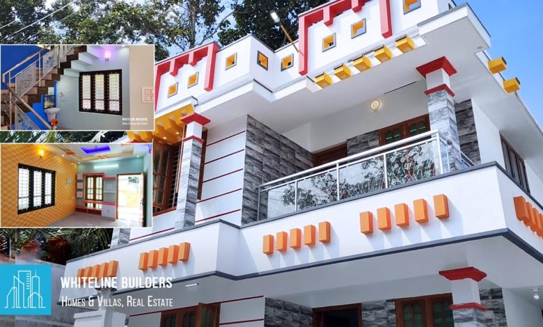 1450 Square Feet 3BHK Modern Two Floor House at 3.5 Cent Land