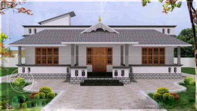 Photo of 1560 Sq Ft 4BHK Traditional Nalukettu Style Single Floor House and Plan