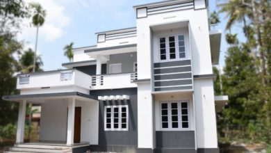 Photo of 1590 Sq Ft 4BHK Double Floor Modern Flat Roof House at 5.2 Cent Land