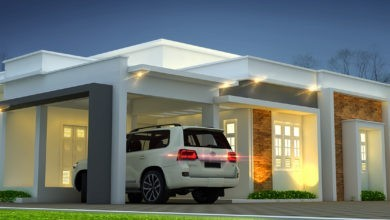 Photo of 1590 Square Feet 3BHK Flat Roof Modern Two Floor House and Plan
