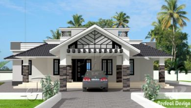 Photo of 1592 Sq Ft 3BHK Traditional Style Single Floor Beautiful House and Plan