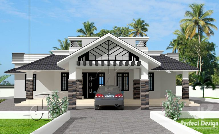1592 Sq Ft 3BHK Traditional Style Single Floor Beautiful House and Plan