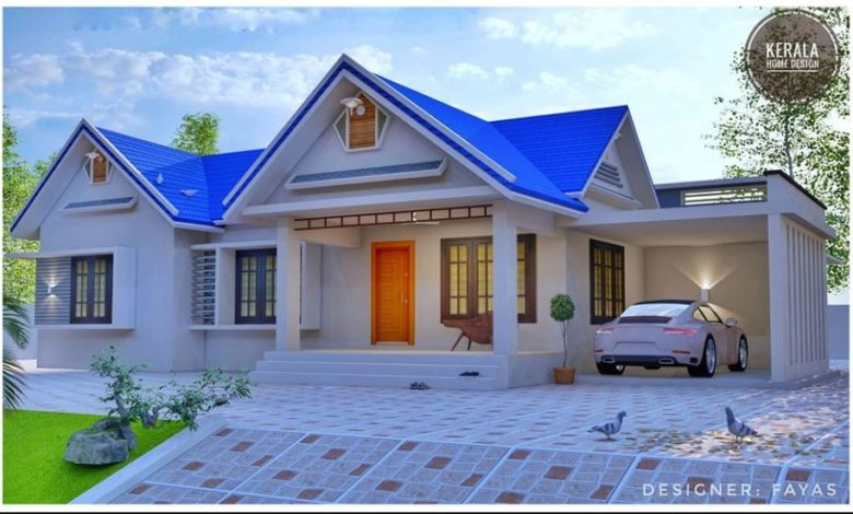 1643 Sq Ft 3 Bedroom Traditional Style Single Floor House and Plan