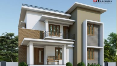 Photo of 1700 Square Feet 4BHK Flat Roof Modern Two Floor Home