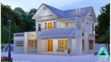Photo of 1850 Sq Ft 4BHK Traditional-Contemporary Mix Style Two Floor Beautiful House and Plan