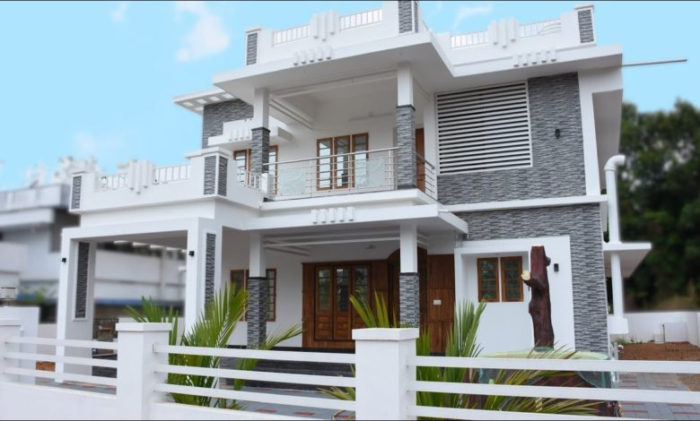 2130 Sq Ft 4BHK Double Floor Modern House at 10.6 Cent Land