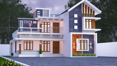 Photo of 2170 Sq Ft 4BHK Contemporary Style Two Floor Modern Beautiful House