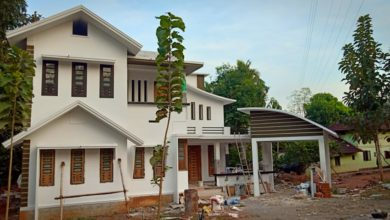 Photo of 2200 Sq Ft 4BHK Contemporary Style Two Floor House and Plan