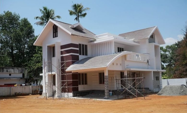 2235 Sq Ft 4BHK Contemporary Style Modern Beautiful House at 8.5 Cent Land