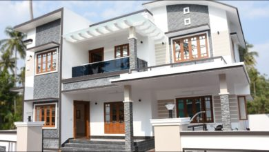 Photo of 2400 Sq Ft 4 BHK Contemporary Style Double Floor House at 7.5 Cent Plot