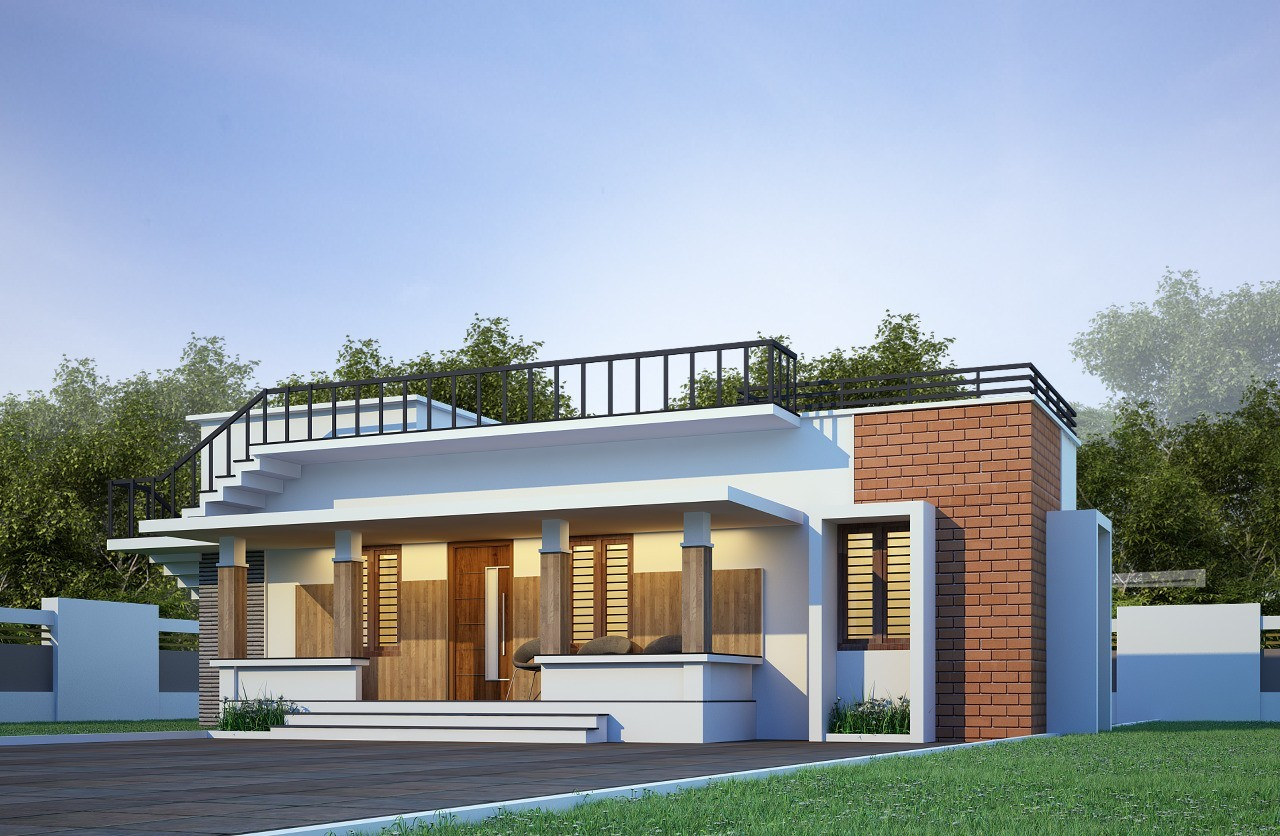 600 Sq Ft 3BHK Single Floor Low Budget House and Plan, 9 Lacks