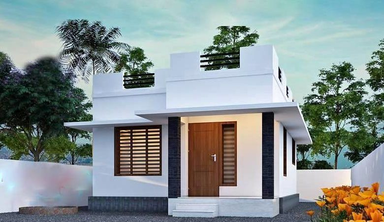 613 Square Feet 2BHK Single Floor Simple and Cute House and Plan, 9 Lacks