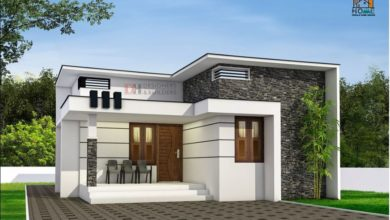 Photo of 850 Square Feet 2BHK Modern Single Floor House and Plan