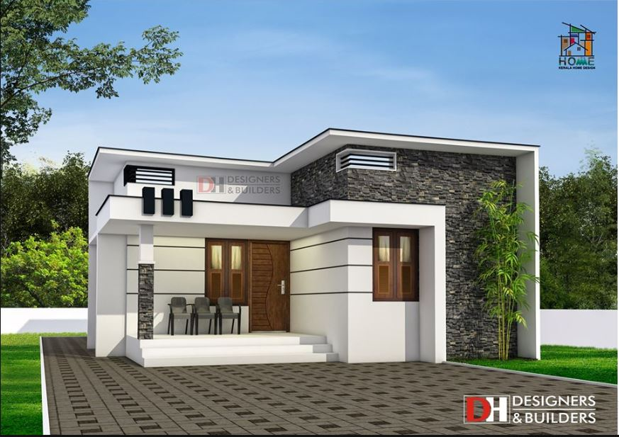 850 Square Feet 2BHK Modern Single Floor House and Plan