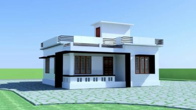 Photo of 900 Sq Ft 2 Bedroom Single Floor Low Budget Modern House and Plan
