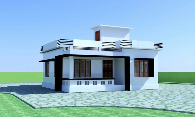 900 Sq Ft 2 Bedroom Single Floor Low Budget Modern House and Plan