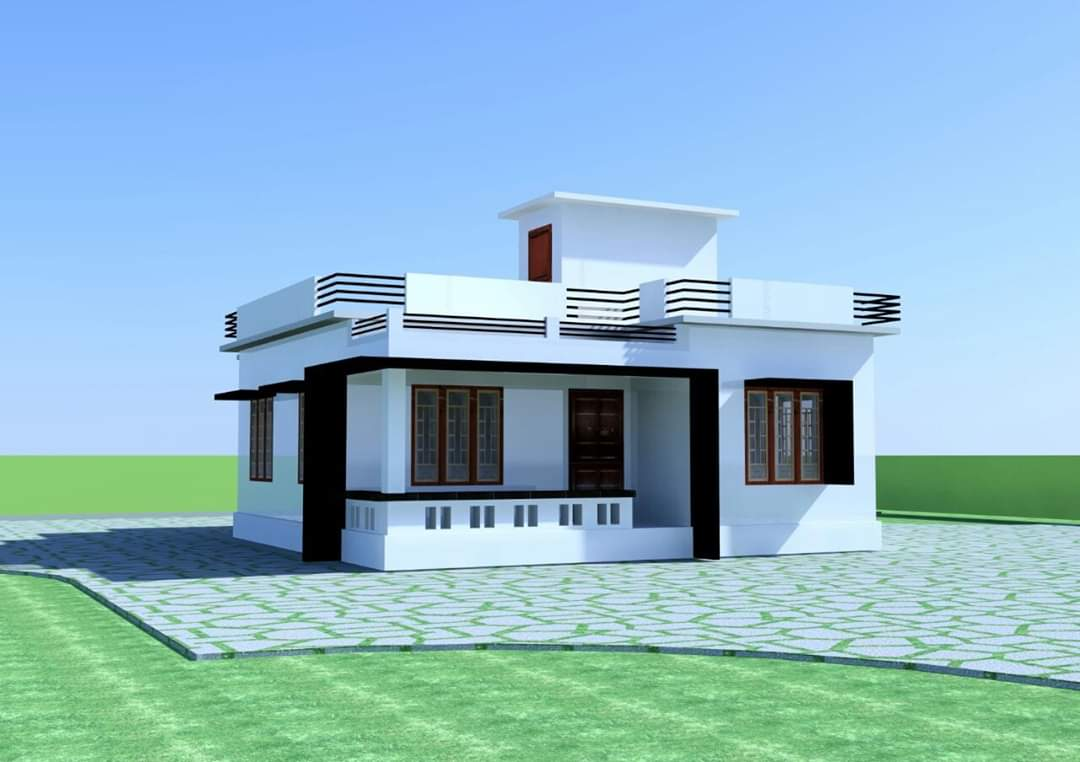 900 Sq Ft 2 Bedroom Single Floor Low Budget Modern House ...