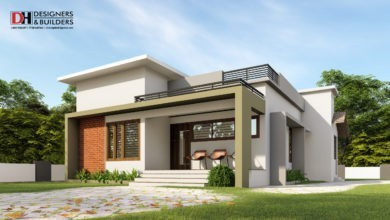 Photo of 930 Sq Ft 2BHK Modern Flat Roof Elegant House Design