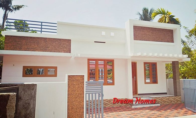 988 Sq Ft 3BHK Single Floor Modern and Beautiful House and Plan