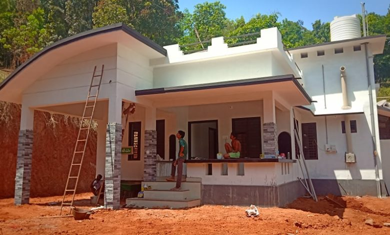 996 Sq Ft 3BHK Low Budget Single Floor House and Plan, Cost 13 Lacks