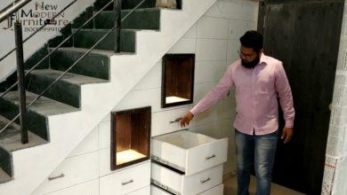 Photo of Modern Cupboard Storage Space Under Stairs