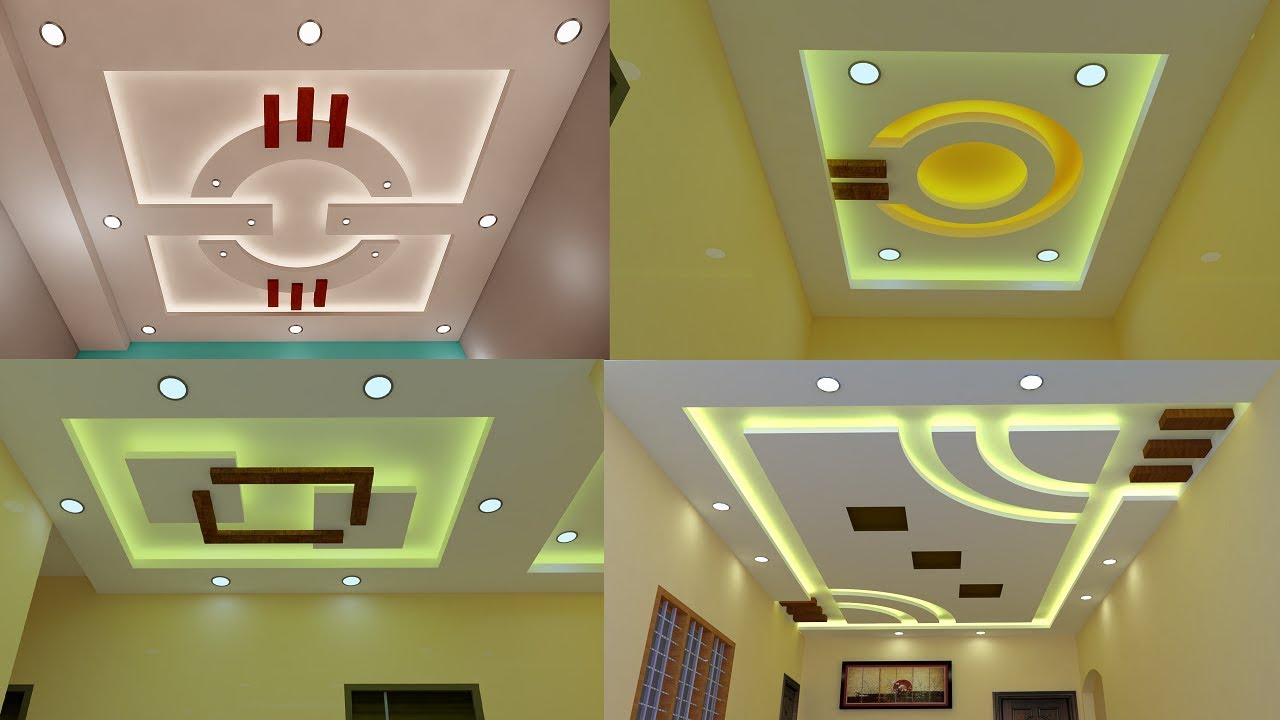 Top 10 Gypsum Board False Ceiling Designs For Living and ...