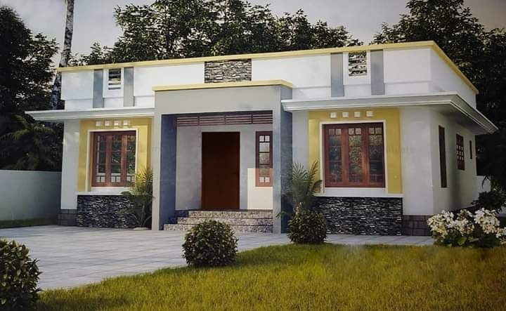 1026 Sq Ft 3 BHK Single Floor Beautiful House and Plan, Cost 15 Lacks