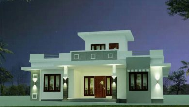 Photo of 1084 Sq Ft 3BHK Contemporary Style One Floor House and Plan, 18 Lacks
