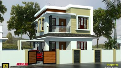 Photo of 1094 Sq Ft 3BHK Contemporary Style Two Floor Modern House and Plan