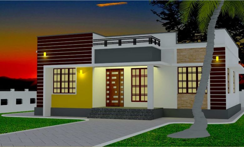 1110 Sq Ft 3BHK Low Budget Single Storey House and Plan, 17.50 Lacks