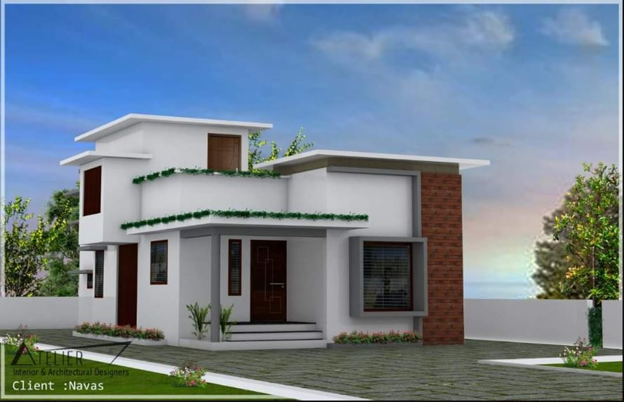 1152 Sq Ft 2BHK Single Floor Modern House and Plan