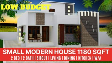 Photo of 1180 Sq Ft 2BHK Modern Single Floor House and Plan, Cost 16 Lacks