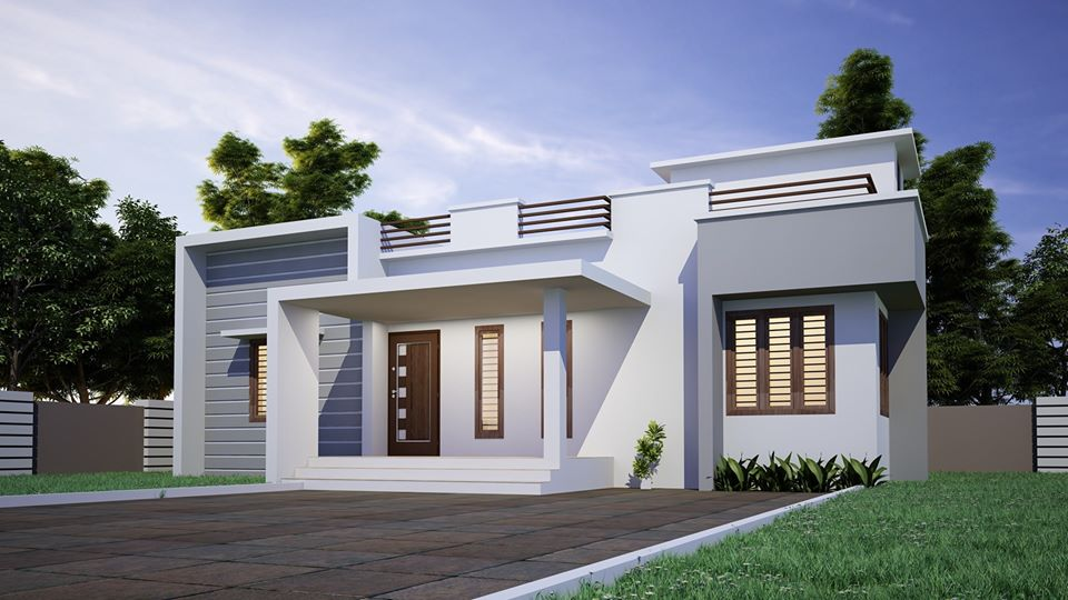 1200 Sq Ft 3BHK Contemporary Single Floor Modern House and Plan, 20 Lacks