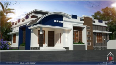 Photo of 1215 Sq Ft 3BHK Contemporary Style Single Floor House and Plan, Cost 17 Lacks